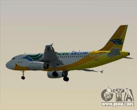 Airbus A319-100 Cebu Pacific Air para GTA San Andreas vista hacia atrás