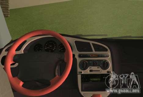Daewoo Lanos Sport NOSOTROS 2001 para GTA Vice City vista desde abajo