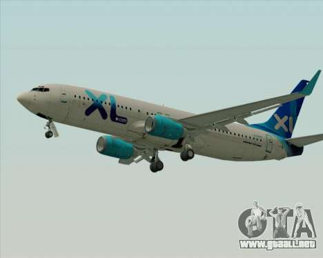 Boeing 737-800 XL Airways para GTA San Andreas vista posterior izquierda