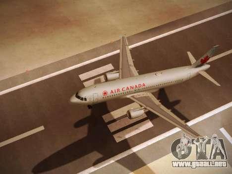 Airbus A320-214 Air Canada para GTA San Andreas vista hacia atrás