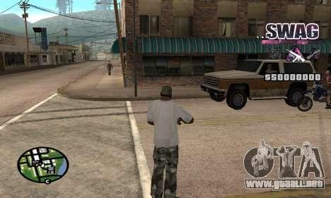 C-HUD Espacio SWAG para GTA San Andreas segunda pantalla