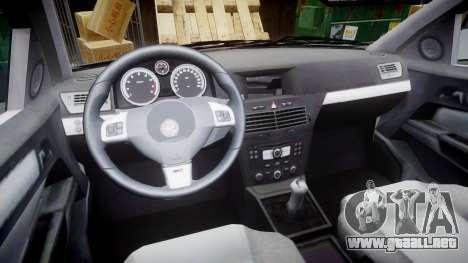 Vauxhall Astra 2010 Metropolitan Police [ELS] para GTA 4 vista hacia atrás