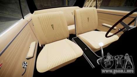 Pontiac GTO 1965 para GTA 4 vista lateral