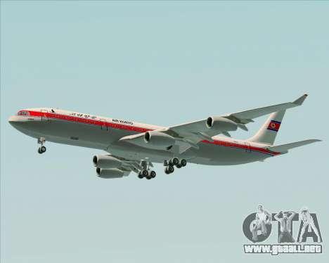 Airbus A340-300 Air Koryo para las ruedas de GTA San Andreas