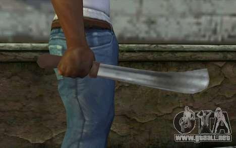 Machete (GTA Vice City) para GTA San Andreas tercera pantalla