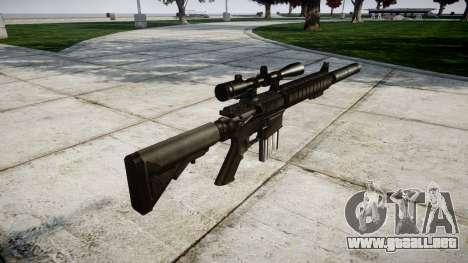 American rifle de francotirador SR-25 para GTA 4 segundos de pantalla
