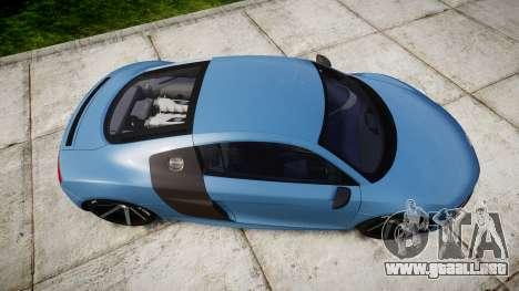 Audi R8 V10 Plus 2013 Vossen VVS CV3 para GTA 4 visión correcta
