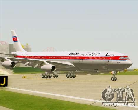 Airbus A340-300 Air Koryo para vista lateral GTA San Andreas