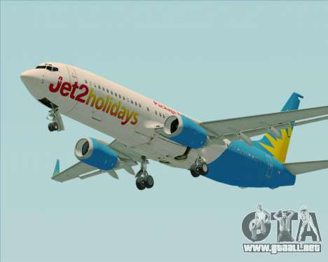 Boeing 737-800 Jet2Holidays para GTA San Andreas vista hacia atrás