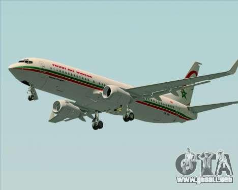 Boeing 737-8B6 Royal Air Maroc (RAM) para GTA San Andreas left
