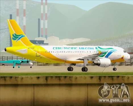 Airbus A320-200 Cebu Pacific Air para visión interna GTA San Andreas