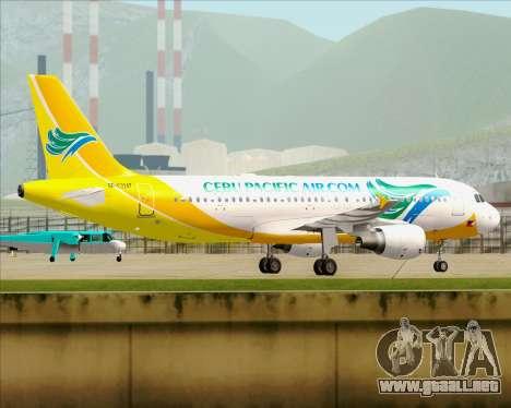 Airbus A320-200 Cebu Pacific Air para visión interna GTA San Andreas