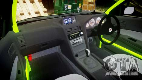 Nissan Skyline R34 GT-R V-Spec [RIV] para GTA 4 vista hacia atrás