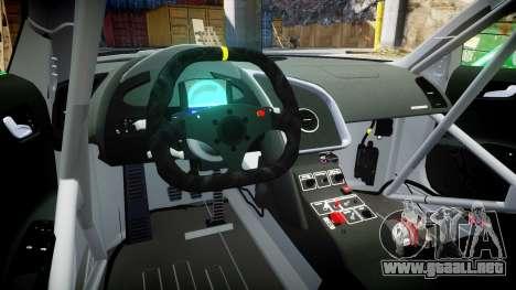 Audi R8 LMS Sharpie para GTA 4 vista hacia atrás
