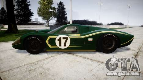 Ford GT40 Mark IV 1967 PJ 17 para GTA 4 left