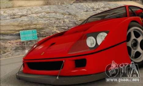Ferrari F40 Competizione Black Revel para la visión correcta GTA San Andreas