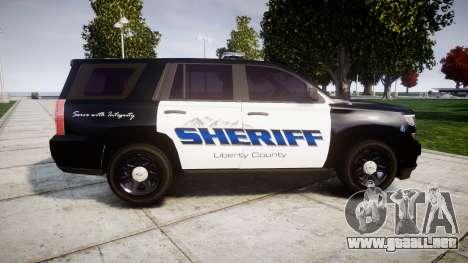 Chevrolet Tahoe 2015 Sheriff [ELS] para GTA 4 left