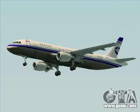 Airbus A320-200 CNAC-Zhejiang Airlines para GTA San Andreas left