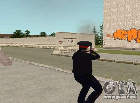 El sargento de la policía para GTA San Andreas sucesivamente de pantalla