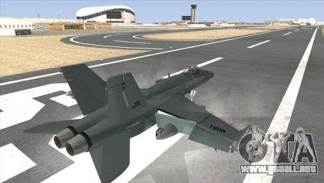 FA-18 Hornet Malaysia Air Force para GTA San Andreas left
