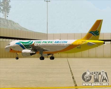 Airbus A320-200 Cebu Pacific Air para las ruedas de GTA San Andreas