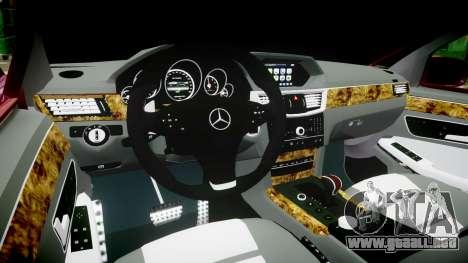 Mercedes-Benz W211 E55 AMG para GTA 4 vista hacia atrás