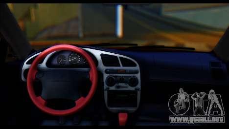 Daewoo Lanos Sport US 2001 para GTA San Andreas vista posterior izquierda