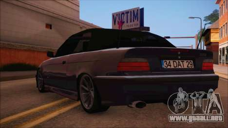 BMW M3 E36 Cabrio 34 DAT 29 para GTA San Andreas left