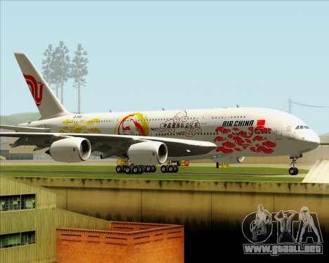 Airbus A380-800 Air China para visión interna GTA San Andreas