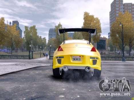 Nissan 350Z Fast And Furious Tokyo Drift para GTA 4 vista hacia atrás