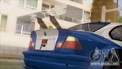 BMW M3 E46 GTR para GTA San Andreas vista hacia atrás