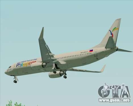 Boeing 737-800 South East Asian Airlines (SEAIR) para vista inferior GTA San Andreas