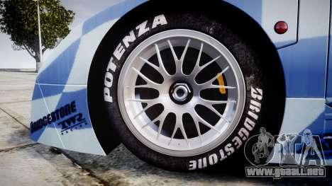 Nissan R390 GT1 1998 para GTA 4 vista hacia atrás