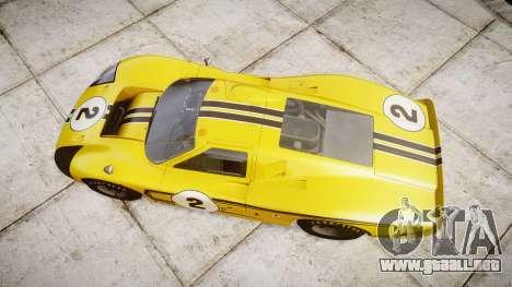 Ford GT40 Mark IV 1967 PJ 2 para GTA 4 visión correcta