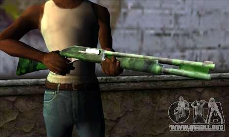 Chromegun v2 Militar para colorear para GTA San Andreas tercera pantalla