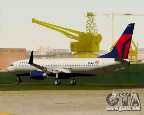Boeing 737-800 Delta Airlines para la vista superior GTA San Andreas