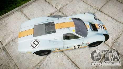 Ford GT40 Mark IV 1967 PJ RAPA olio 9 para GTA 4 visión correcta