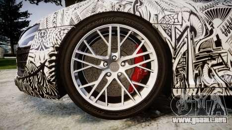 Audi R8 LMX 2015 [EPM] Sharpie para GTA 4 vista hacia atrás