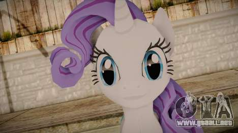 Rarity from My Little Pony para GTA San Andreas tercera pantalla
