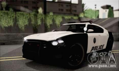 Bravado Buffalo S Police Edition (IVF) para GTA San Andreas vista hacia atrás