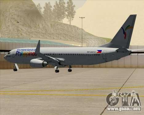 Boeing 737-800 South East Asian Airlines (SEAIR) para la vista superior GTA San Andreas