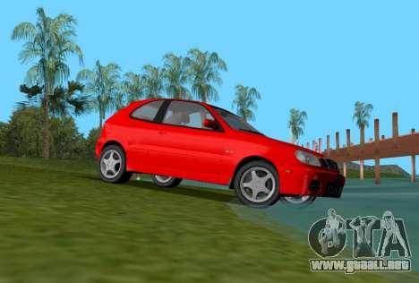 Daewoo Lanos Sport NOSOTROS 2001 para GTA Vice City visión correcta
