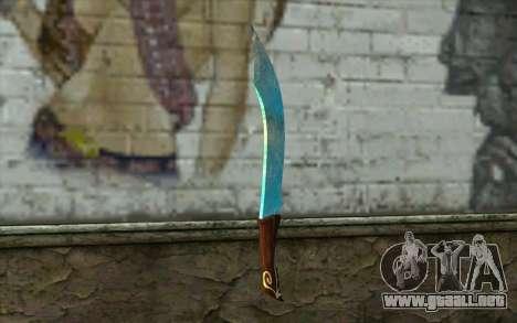 Cuchillo de diamante para GTA San Andreas segunda pantalla