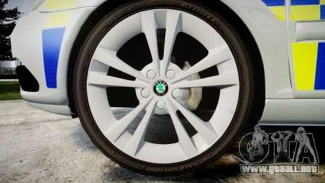 Skoda Octavia vRS Comb Metropolitan Police [ELS] para GTA 4 vista hacia atrás