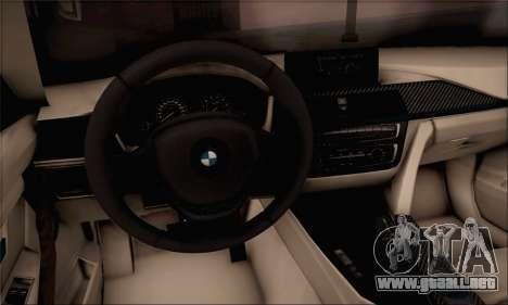 BMW F30 320d para GTA San Andreas vista posterior izquierda