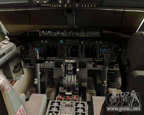 Boeing 737-8B6 Royal Air Maroc (RAM) para GTA San Andreas interior