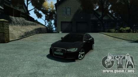 Audi A6 2012 para GTA 4 vista lateral