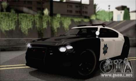 Bravado Buffalo S Police Edition (IVF) para la visión correcta GTA San Andreas