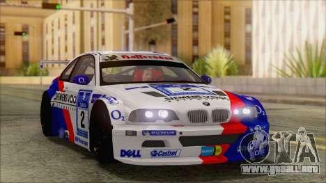 BMW M3 E46 GTR para visión interna GTA San Andreas
