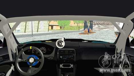 Nissan Silvia S14 Falken para GTA San Andreas vista posterior izquierda